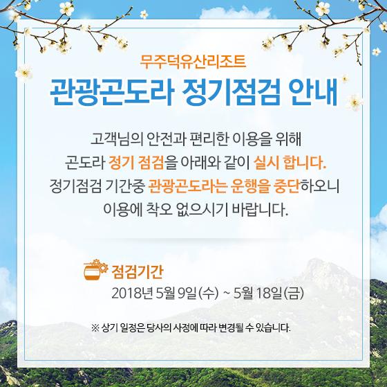 관광곤도라 정기점검 안내