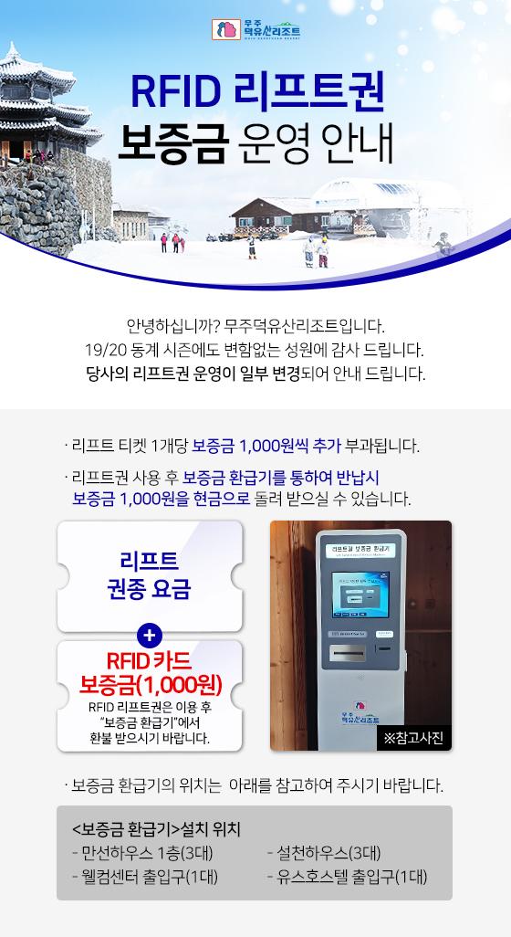 RFID 리프트권 보증금 운영 안내